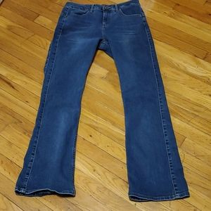 Women's lee riders slim mid rise boot jeans 12